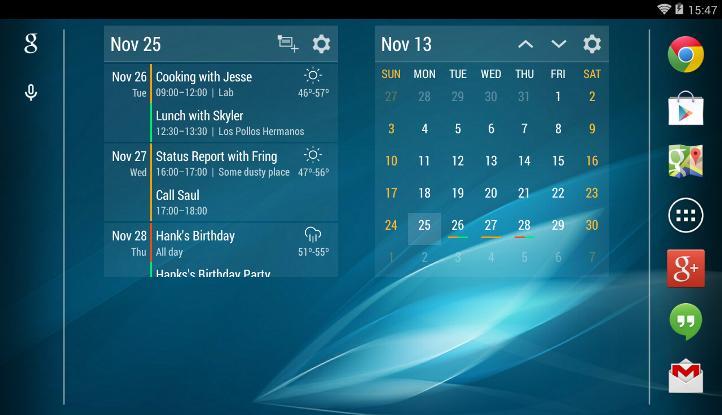 Julls' calendar простой виджет календаря для android скачать.